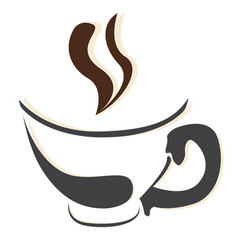 isolated coffee mug logo vector image vector image