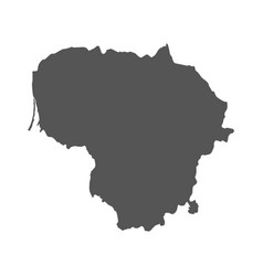 Lithuania map black icon on white background vector