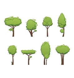 Nature cut tree collection elements vector image