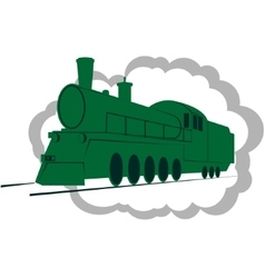 Old locomotive-1 vector image