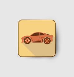 orange car icon vector image
