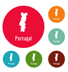 Portugal map in black simple vector