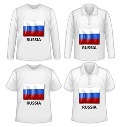 Russia shirt vector image vector image