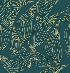 Seamless pattern with abstract leaves vector image vector image