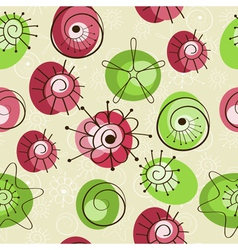 Seamless spring background vector