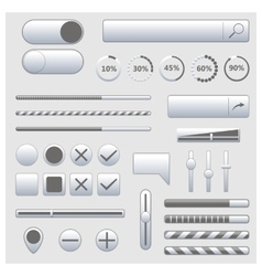 Set of web elements vector image vector image
