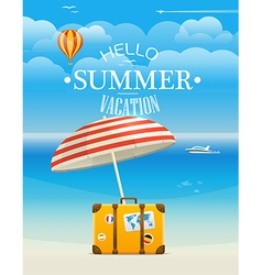 Summer seaside vacation hello summer vacation vector