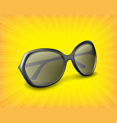 Sunglasses 3d icon vector
