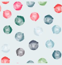 Watercolor circles seamless pattern vector