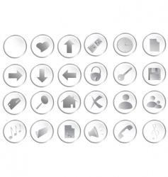 web buttons set vector image vector image