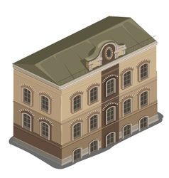 One classic many storey house isolated vector