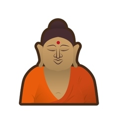 Head buddha spirituality indian vector