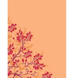 Fall buckthorn berries corner background vector