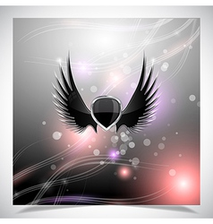 Abstract background with wings vector