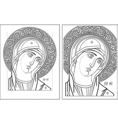 Virgin oplechnaya outline11-12 picture vector