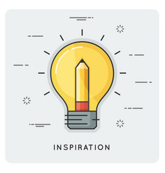 Idea and inspiration thin line concept vector