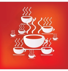 Hot drink web icon vector
