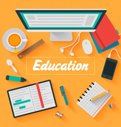Trendy flat design education vector