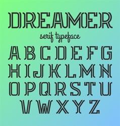 Modern serif typeface vector image