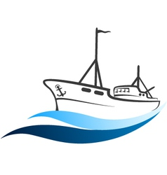 Fishing boat vector