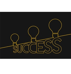 Light bulb ideas to success idea concept vector