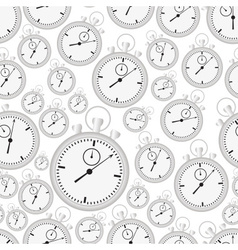 silver stopwatch case and dials with hands vector image