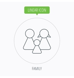 Family icon male female and child sign vector