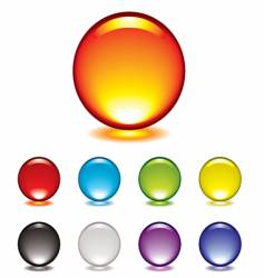 marble button glow vector image