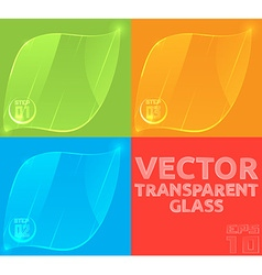 Empty glass template for the price tag banner or vector