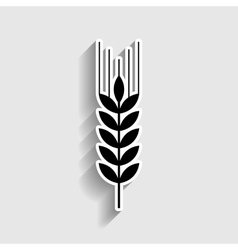 Wheat sign sticker style icon vector