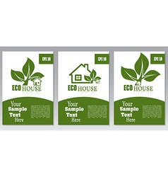 Set of flyers or cover design green house Brochure vector image