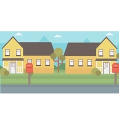 Background of suburban house vector