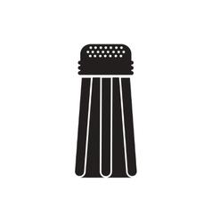 Black icon on white background salt shaker vector
