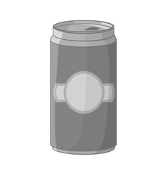 Aluminum cans for beer icon monochrome style vector