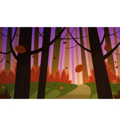Autumn forest trail vector