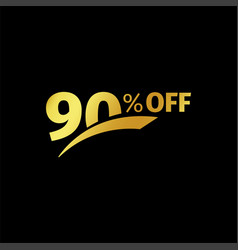 black banner discount purchase 90 percent sale vector image