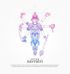 Creative maa durga for navratri festival vector