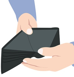Empty wallet vector