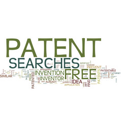 Free patent searches text background word cloud vector