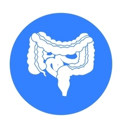 Gastrointestinal tract icon in black style vector