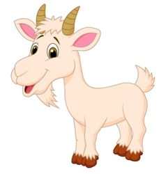 Goat cartoon character vector image