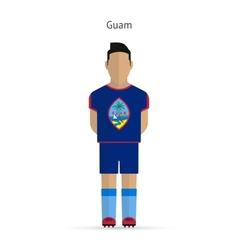Guam football player soccer uniform vector