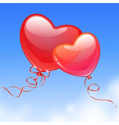heart shaped balloon vector image vector image