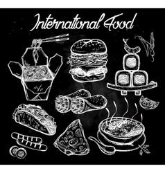 International food menu set vector