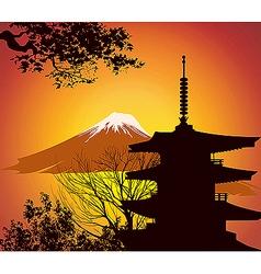 Japanese landmarks vector image vector image