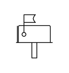 Mail box icon vector