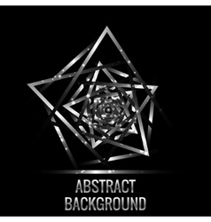 Metallic triangles background vector image