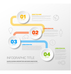 One two three four - progress template vector