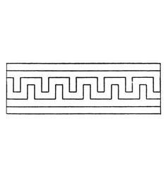 Simple fret band reciprocates backwards vintage vector