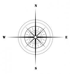 sketchy compass vector image